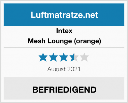 Intex Mesh Lounge (orange) Test