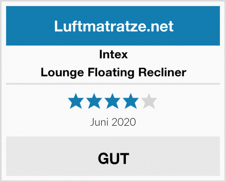 Intex Lounge Floating Recliner Test