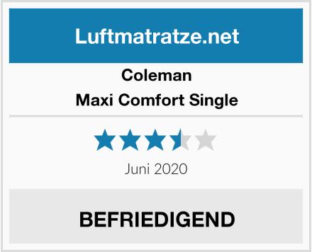 Coleman Maxi Comfort Single Test
