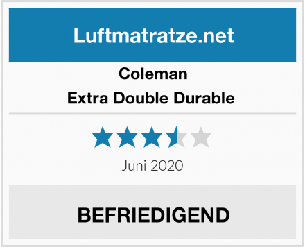 Coleman Extra Double Durable  Test