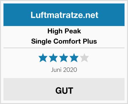 High Peak Single Comfort Plus Test