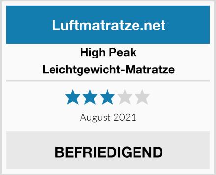 High Peak Leichtgewicht-Matratze Test