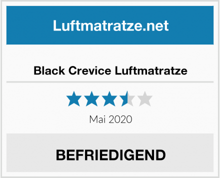 Black Crevice Luftmatratze Test
