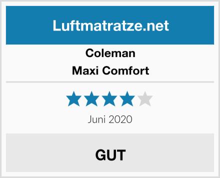Coleman Maxi Comfort Test