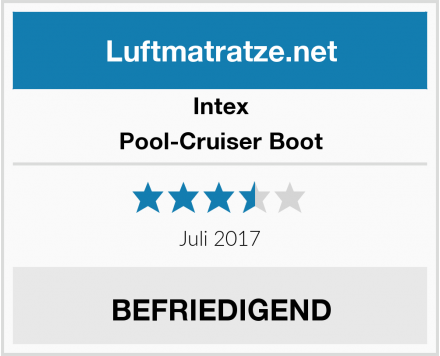 Intex Pool-Cruiser Boot Test