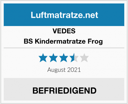 VEDES BS Kindermatratze Frog  Test