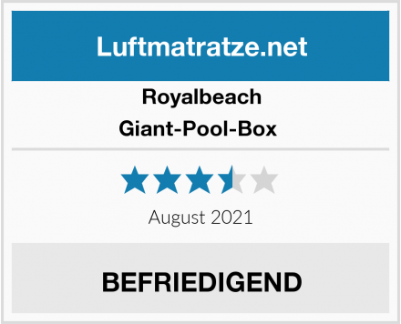 Royalbeach Giant-Pool-Box  Test