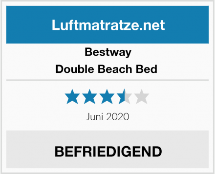 Bestway Double Beach Bed  Test