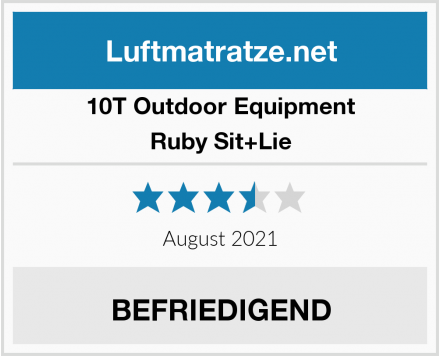 10T Outdoor Equipment Ruby Sit+Lie Test