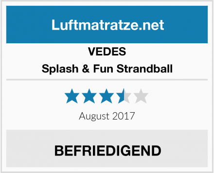 VEDES Splash & Fun Strandball Test