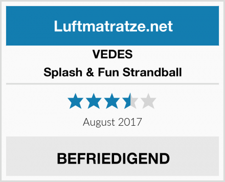 VEDES Splash & Fun Strandball Test
