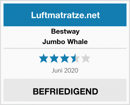Bestway Jumbo Whale Test
