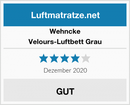 Wehncke Velours-Luftbett Grau Test