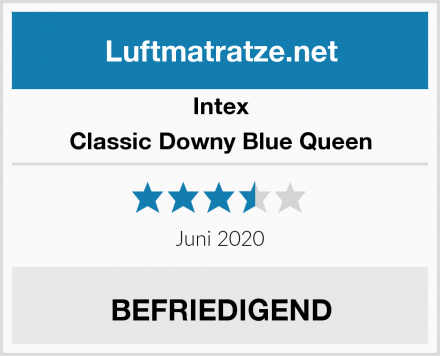 Intex Classic Downy Blue Queen Test